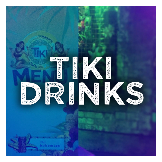 Tiki Drinks Menu